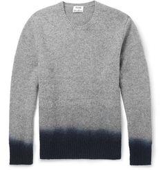 Acne Studios Dip-Dye Mélange-Knit Wool Sweater | MR PORTER