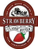 THE COACH HOUSE BREWING COMPANY'S STRAWBERRY BITTER - the company was established in 1991 following the closure of the Greenall Whitley Brewery which had a presence in the Cheshire town of Warrington since 1762. This is a very pale beer with a light delicate bitterness redolent with flavour and aroma of Strawberries.