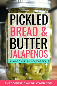 This post will share a recipe for pickled bread and butter jalapeños and a few clever techniques for keeping your sweet and sour pickles crisp and delicious - eat them in a sandwich, in a salad or as a tasty side