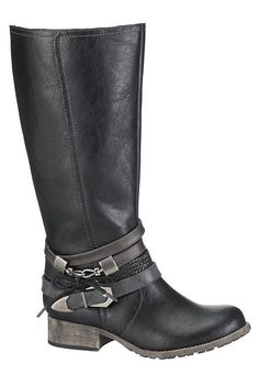 tiffany boot with straps in black (original price, $59) available at #Maurices