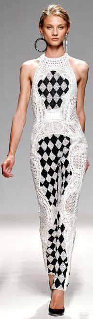 Balmain - Spring/Summer 2013 black and white jumpsuit