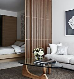 Studio Apartment • Screen Design || #axlundandgoldstein #design #interior #texture #screening #studio #koichitakada #camerich…