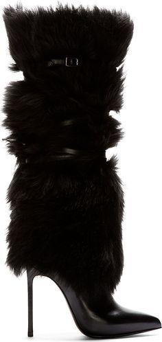 Accessories Show / karen cox. Saint Laurent - Black Leather