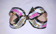 Military Princess Hair Bow by MiaBellaCrafting on Etsy