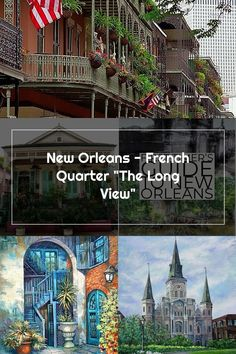 "New Orleans - French Quarter ""The Long View"" New Orleans French Quarter, Long A, Mansions, House Styles, Luxury Houses, Palaces, Mansion, Mansion Houses, Villas"
