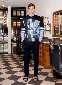#blue Love the jumper !!!!! » Givenchy Spring 2014 Pre-Collection