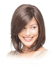 Shoulder-length hair cut with layers