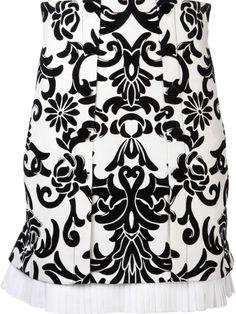 Alexander McQueen patterned a-line skirt on shopstyle.com