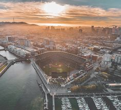 San Francisco Giants Stadium by @copterpilot #sanfrancisco #sf