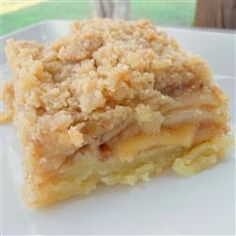 Apple Slab Pie with crumble topping instead of crust.