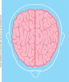 Dirty Minds illustration, Steven Pinker, Wired Magazine, Cursing Brain hidden text