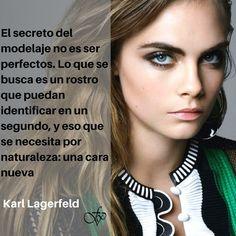 El secreto del Modelaje según #KarlLagerfeld