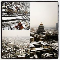 Brussels, a city covered in #snow