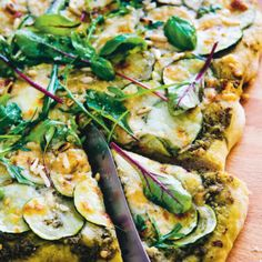 Grön pizza