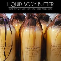 Shop Sheair Butters' Liquid Body Butter, made with Shea Nut Oil, Nilotica Shea Butter and Royal Jelly. Drench your body in liquid gold and experience the softest, smoothest skin you've ever had. Body Butter, Shea Butter, Cracked Lips, Dry Nails, Liquid Gold, Cleansing Oil, Natural Glow