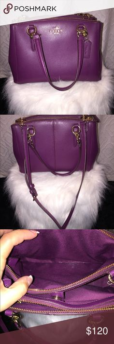 Coach Plum Shoulder Bag ✋Note price is firm , no trades  AUTHENTIC Coach Plum Shoulder Bag Coach Bags Shoulder Bags
