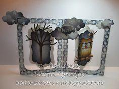 Anita 's Warme Groetjes: Halloween met Elizabeth Craft Designs using Karen Burniston dies; Sept 2014