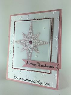 If you are looking for an Elegant Holiday card, this one is it! Products detailed on my blog. #stampinbj.com