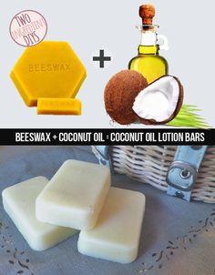 DIY Coconut Oil Lotion Bars