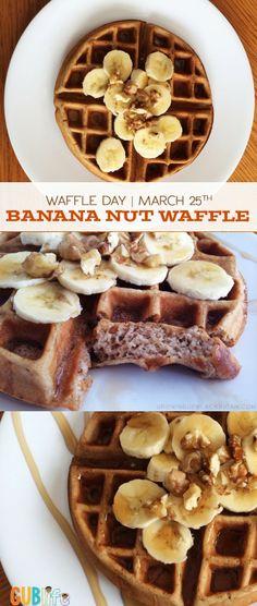 Waffle Day: Banana Nut Waffles