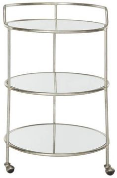 Dulcinea Bar Cart Silver
