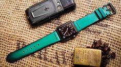 Patina Apple Watch Strap Band-Handmade Vegetable Tanned