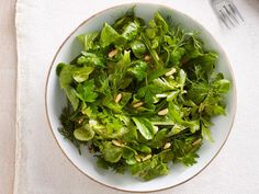 Get Mache and Herb Power Salad Recipe from Food Network