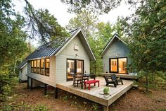 Cabin Life is your destination for learning about the cabin lifestyle. Discover your cabin design style, get cabin + cottage floor plan inspiration, and find cabin maintenance tips. Cabin House Plans, Tiny House Cabin, Tiny House Living, Cabin Homes, Small House Plans, Shed Cabin, Tiny Homes, Tiny Cabin Plans, Tiny House Family