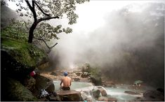 Hot springs in Taiwan. Close to central Taipei.. If I go visit Mario we are def going here!