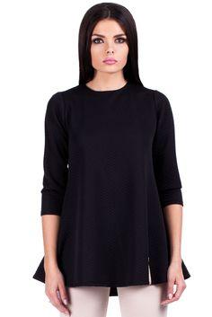 Czarna pikowana tunika High Neck Dress, Turtle Neck, Sweaters, Dresses, Fashion, Turtleneck Dress, Vestidos, Moda, Fashion Styles