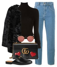 Untitled #2602 by camila-echi on Polyvore featuring polyvore, fashion, style, BLK DNM, MANGO, Chloé, Gucci, Ray-Ban and clothing