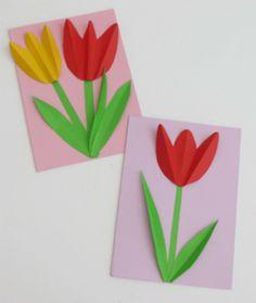 Výsledek obrázku pro аппликация тюльпаны
