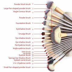 18 Pcs. Professional Cosmetics Foundation Makeup Brush Powder Eye Liner Brush - marketplacefinds  - 4