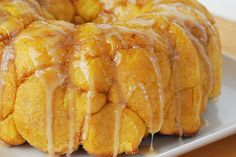 Pumpkin Monkey Bread with Maple Glaze . #TheTexasFoodNetwork @Chef Shelley Pogue follow us on Facebook and share your recipes with us on The Texas Food Network!