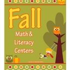 Gorgeous fall colors and cute graphics! This unit is filled with activities to use in your math and literacy centers. Missing number, addition, cou...