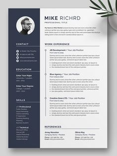 Buy Resume by on GraphicRiver. The Professional Resume/cv template to help you land that great job. Best Cv Template, Creative Cv Template, Resume Design Template, Free Cv Template Word, Business Resume Template, Modern Resume Template, Microsoft Word Resume Template, Free Resume, Graphic Design Resume
