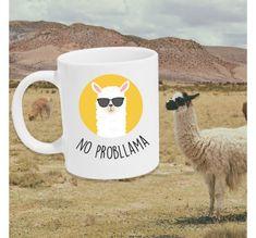 No Probllama- kopp Trondheim, Mugs, Tableware, Design, Dinnerware, Tumbler, Dishes, Mug, Design Comics