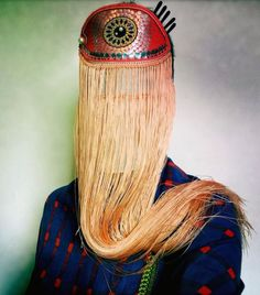 Magnhild Kennedy: i (perhaps an Ode to Elsa Schiaparelli) Textiles, Mode Costume, Design Textile, Elsa Schiaparelli, Lol League Of Legends, Masks Art, Looks Cool, Headgear, Headdress