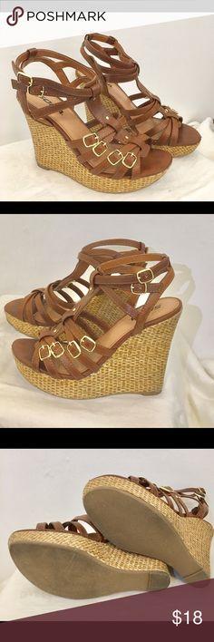 754c0d9362e Cognac Wedges - Ankle Strap Cognac Wedges - Ankle Strap 4