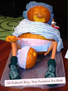 Oh! Rubbish!: Halloween Pumpkin Carving Idea :: How Pumpkins Are Made