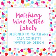 Printable Wine Bottle Labels for any Design by CasaConfetti