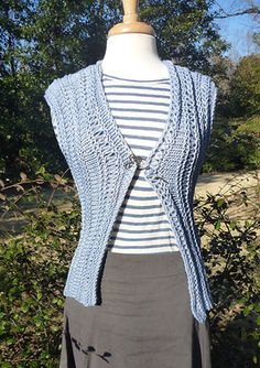 SKnitsB Spring Breeze Vest Knitting Pattern