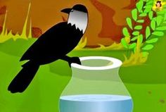 Learn how the thirsty crow solved its problem. A moral story in English for children, with pictures. English Moral Stories, Short Moral Stories, English Stories For Kids, Moral Stories For Kids, Short Stories For Kids, English Story, Reading Stories, Crow Pictures, Farm Animals Preschool