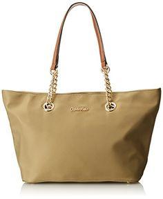 Calvin Klein Nylon Chain Tote Handbags