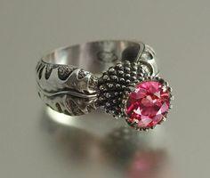Natalia Moroz & Sergey Zhiboedov- Sterling & Pink Topaz ring http://szjewelrydesign.com/SZdesigns.html