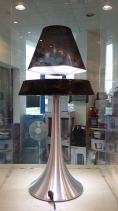 These LUXA Lamps (black) are something unique as the lamp shade floats in mid air above the base! Lighting Showroom, Black Lamps, Lighting Design, Dining Table, Base, Shades, Unique, Furniture, Home Decor