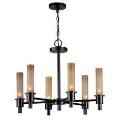 World Imports, Dunwoody 6-Light Oil Rubbed Bronze Chandelier, WI687388 at The Home Depot - Mobile