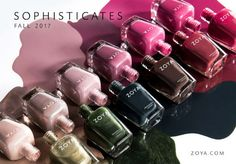 Zoya Sophisticated Nailpolish Collection Fall 2017