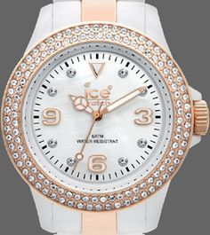 Ice-Watch Stone in wit met goud/witte band