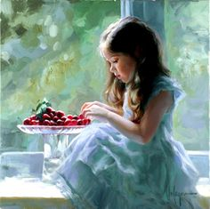 Children Paintings by Vladimir Volegov. Born in Chabarovsk, Russia, Vladimir began painting at the age of three. After having attended the art school, and Mary Cassatt, Albrecht Durer, Painting For Kids, Painting & Drawing, Children Painting, Apple Painting, Orange Painting, Art Children, Painting People